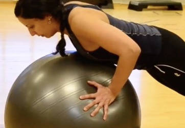 Shoulder part VII – push up with pilates ball